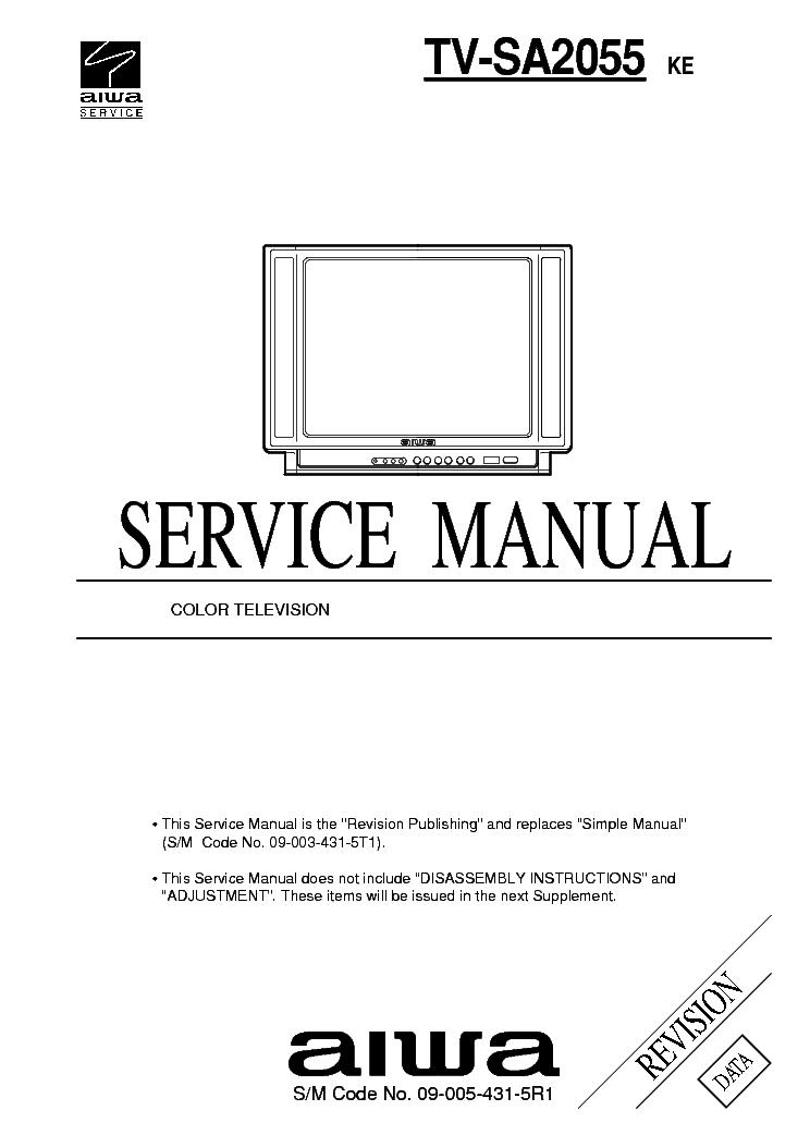 AIWA A207 SCH Service Manual download, schematics, eeprom