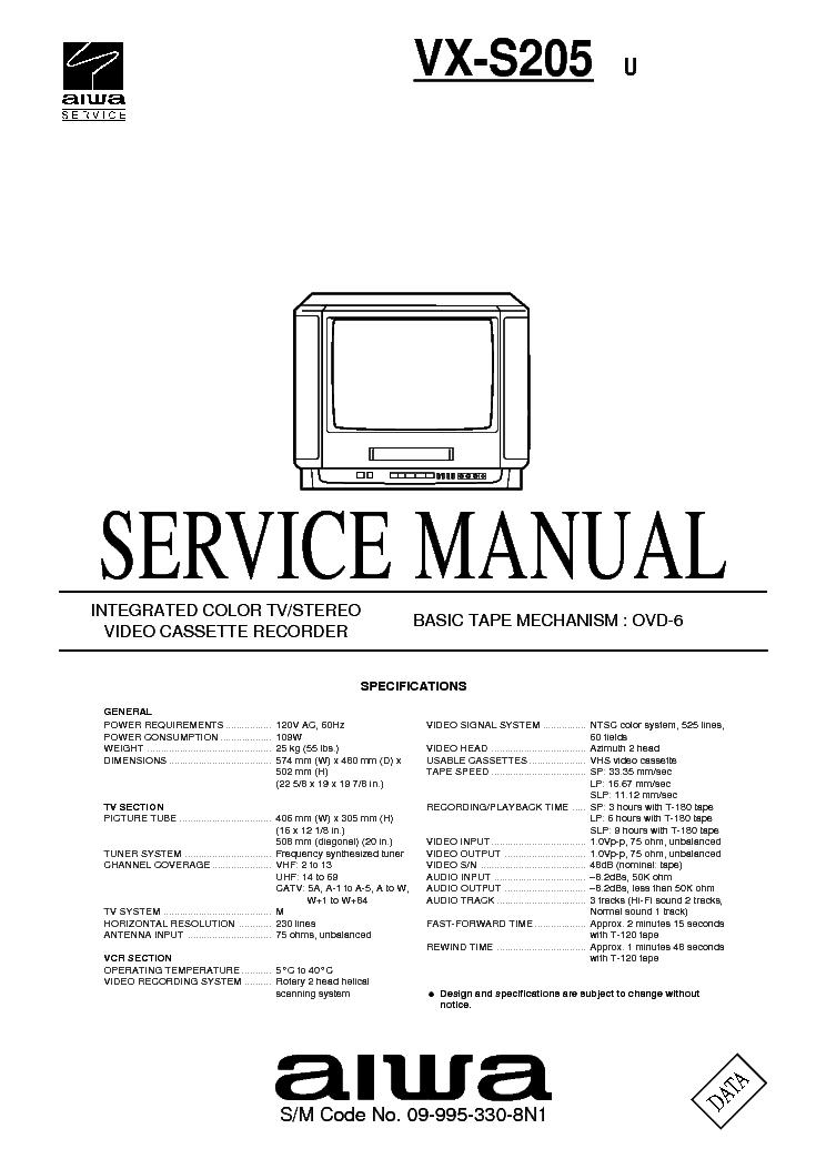 AIWA-SE211 Service Manual download, schematics, eeprom