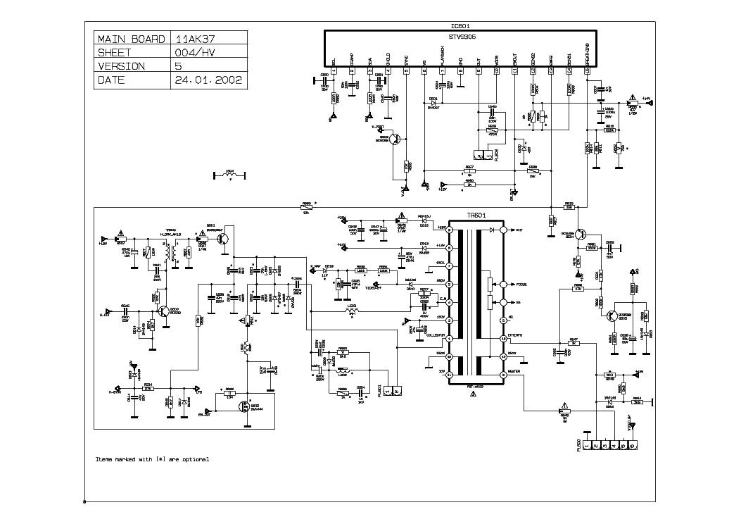 AKAI 11AK37 Service Manual download, schematics, eeprom