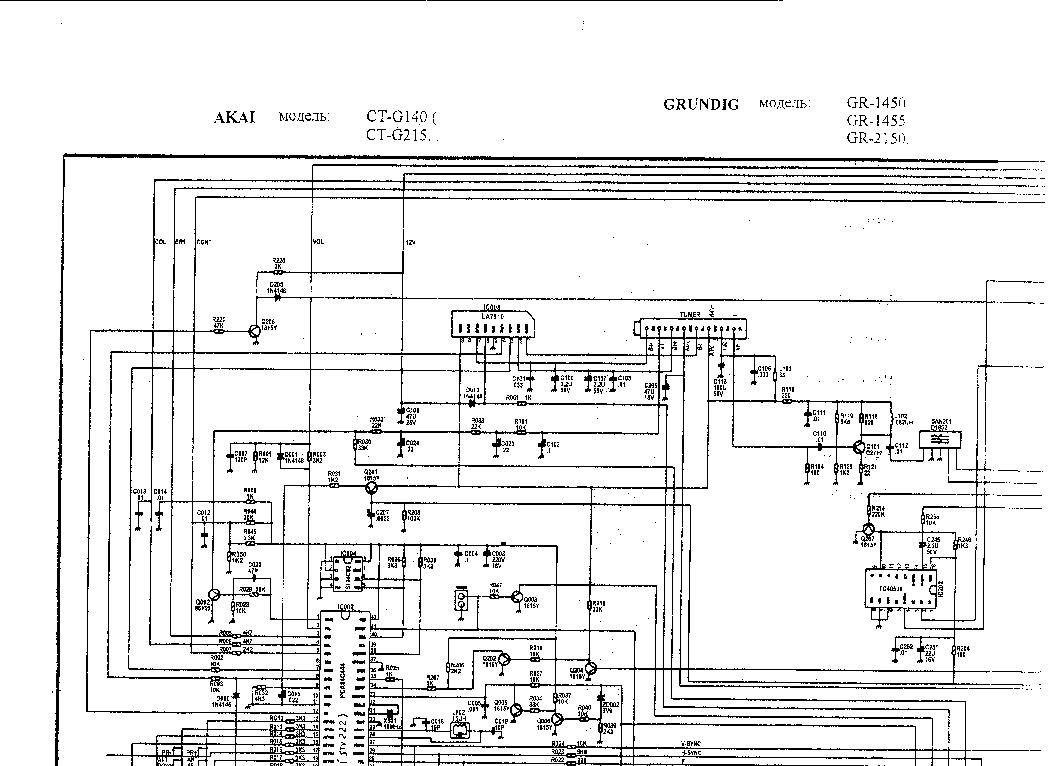 AKAI CT-G140 CT-G215 GRUNDIG GR-1450 1455 2150 SCH Service