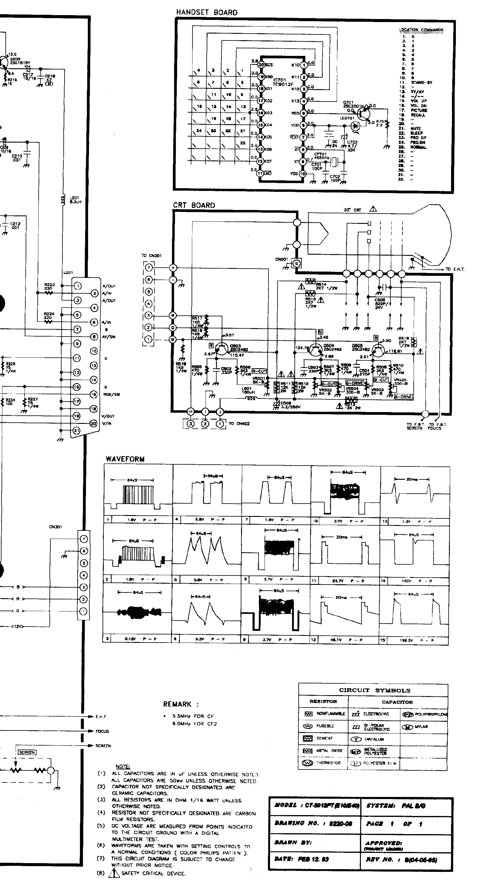 AKAI CT2107BG Service Manual download, schematics, eeprom