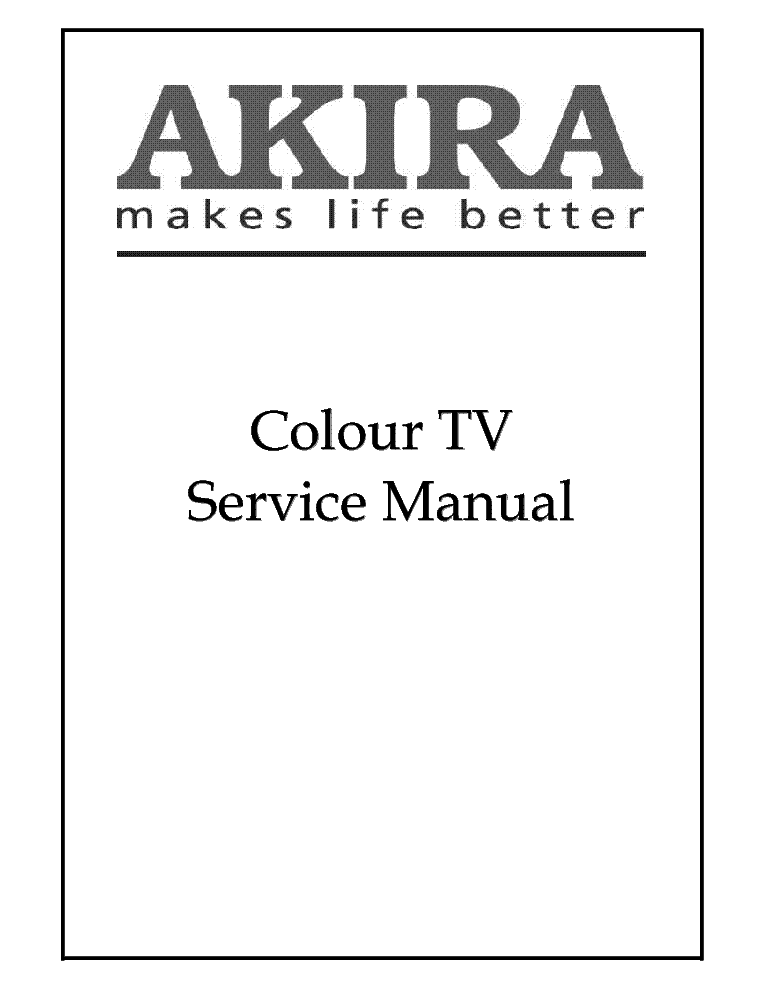 AKIRA CT-14CPS5CPT ETE-2 Service Manual download