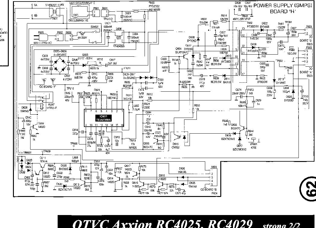 AXXION TV RC-4025 RC-4029 Service Manual download