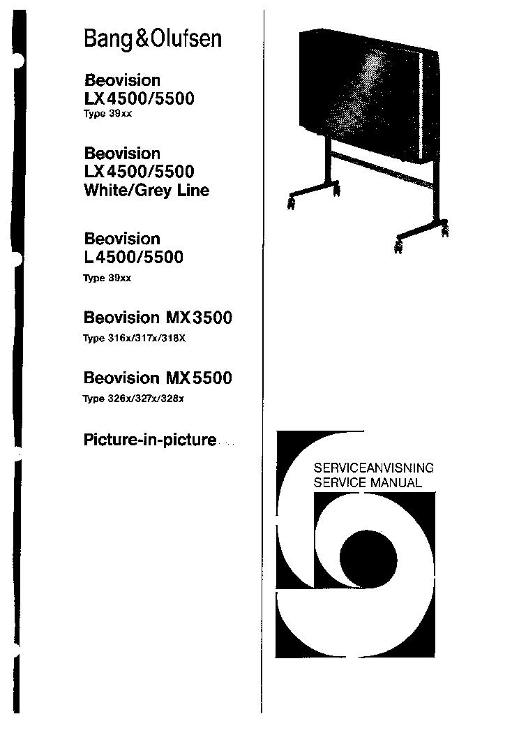 BANG-OLUFSEN BEOVISION L4500,L5500,LX4500,LX5500,MX3500