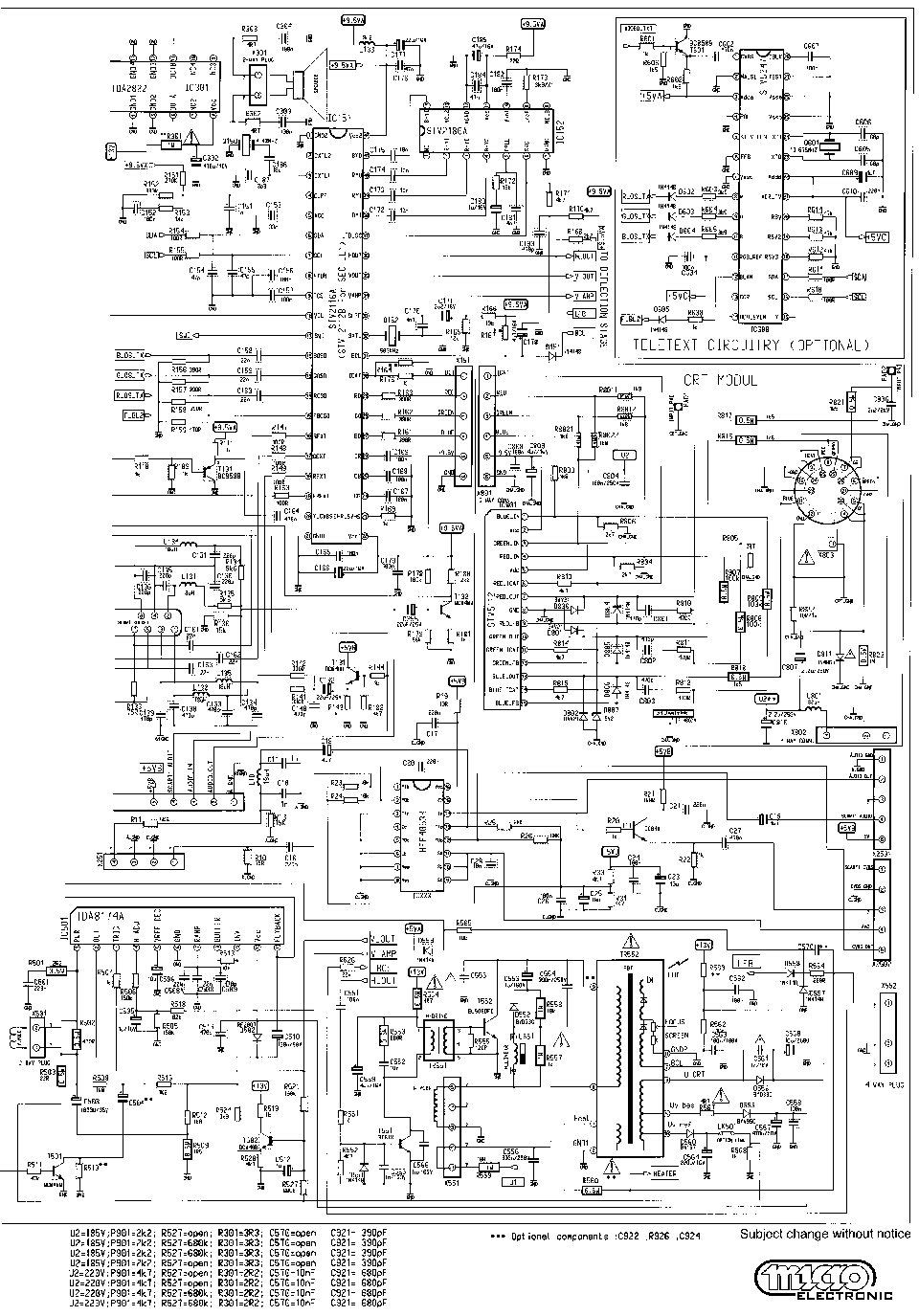 BEKO CH12.1 TV Service Manual download, schematics, eeprom
