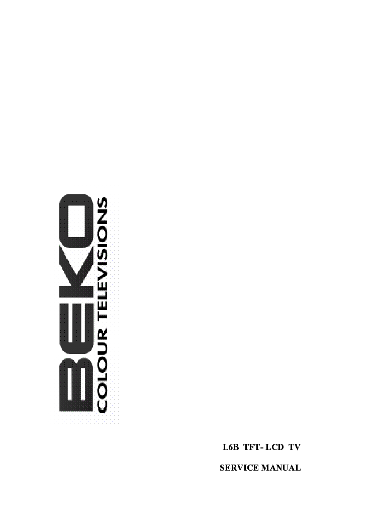 BEKO CHASSIS L6B Service Manual download, schematics