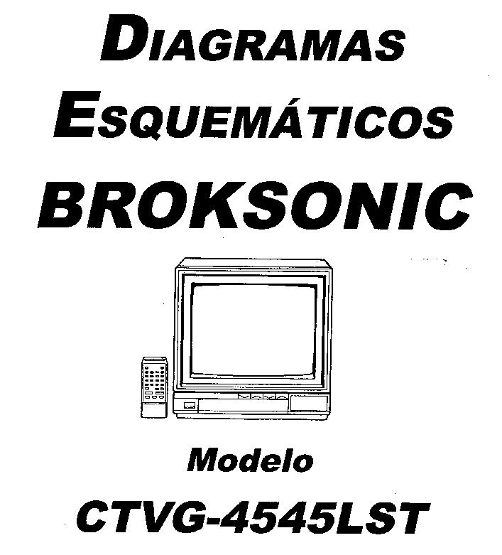 BROKSONIC CTVG 4563TCT TMA525A Service Manual download