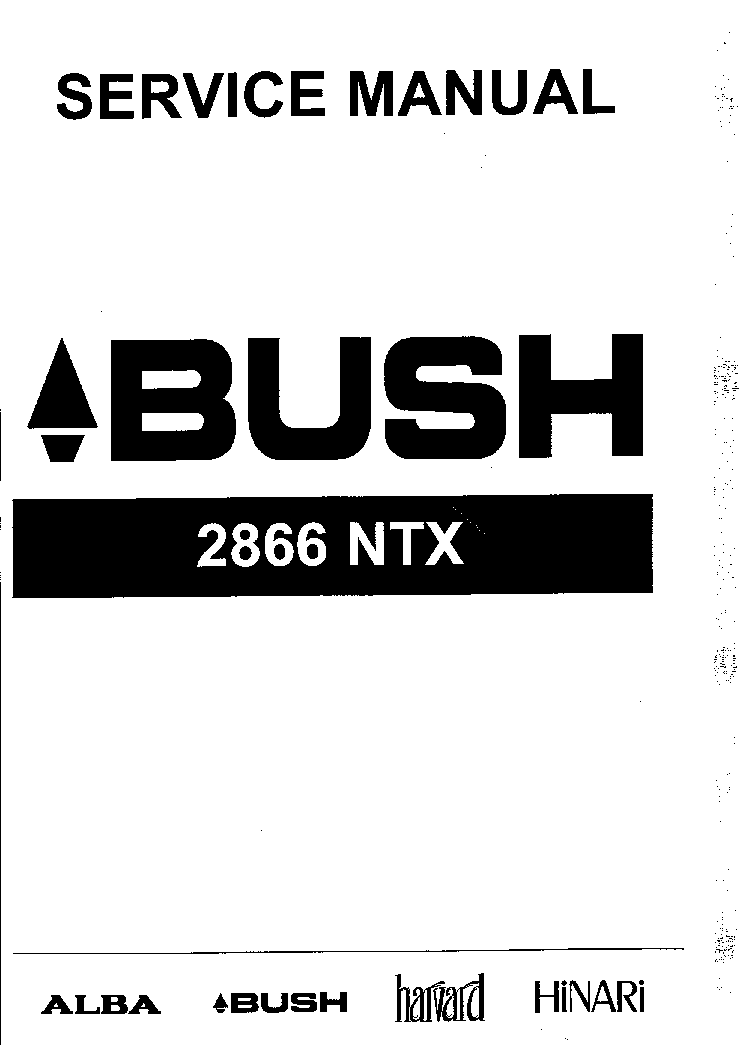 BUSH 2866NTX CH 28 Service Manual download, schematics
