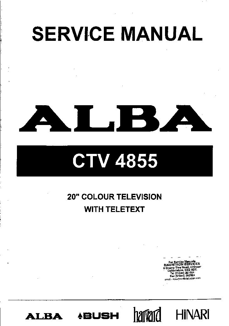 BUSH ALBA CTV4855 TV SM Service Manual download