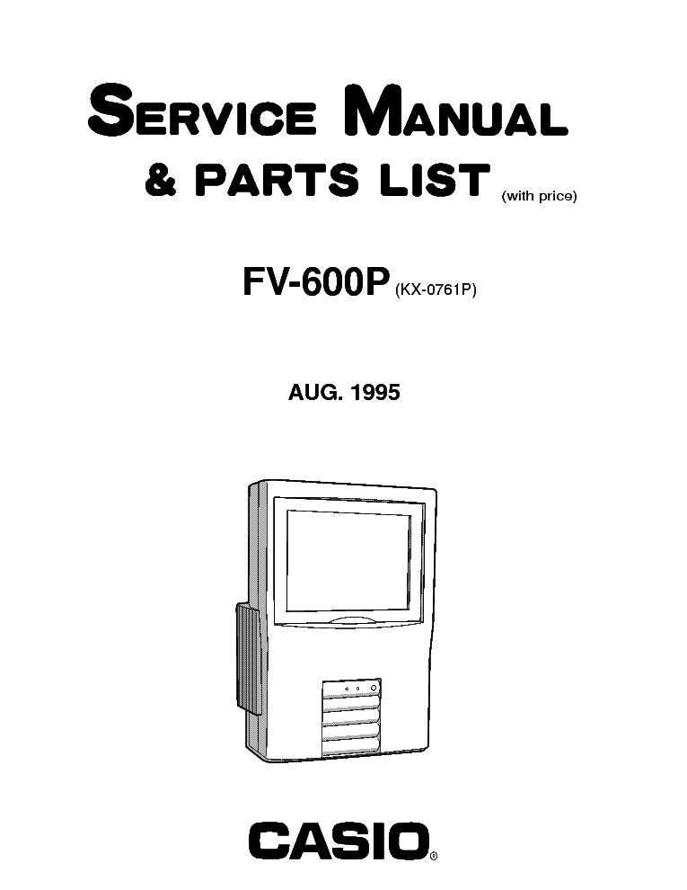 CASIO FV-600P LCDTV Service Manual download, schematics