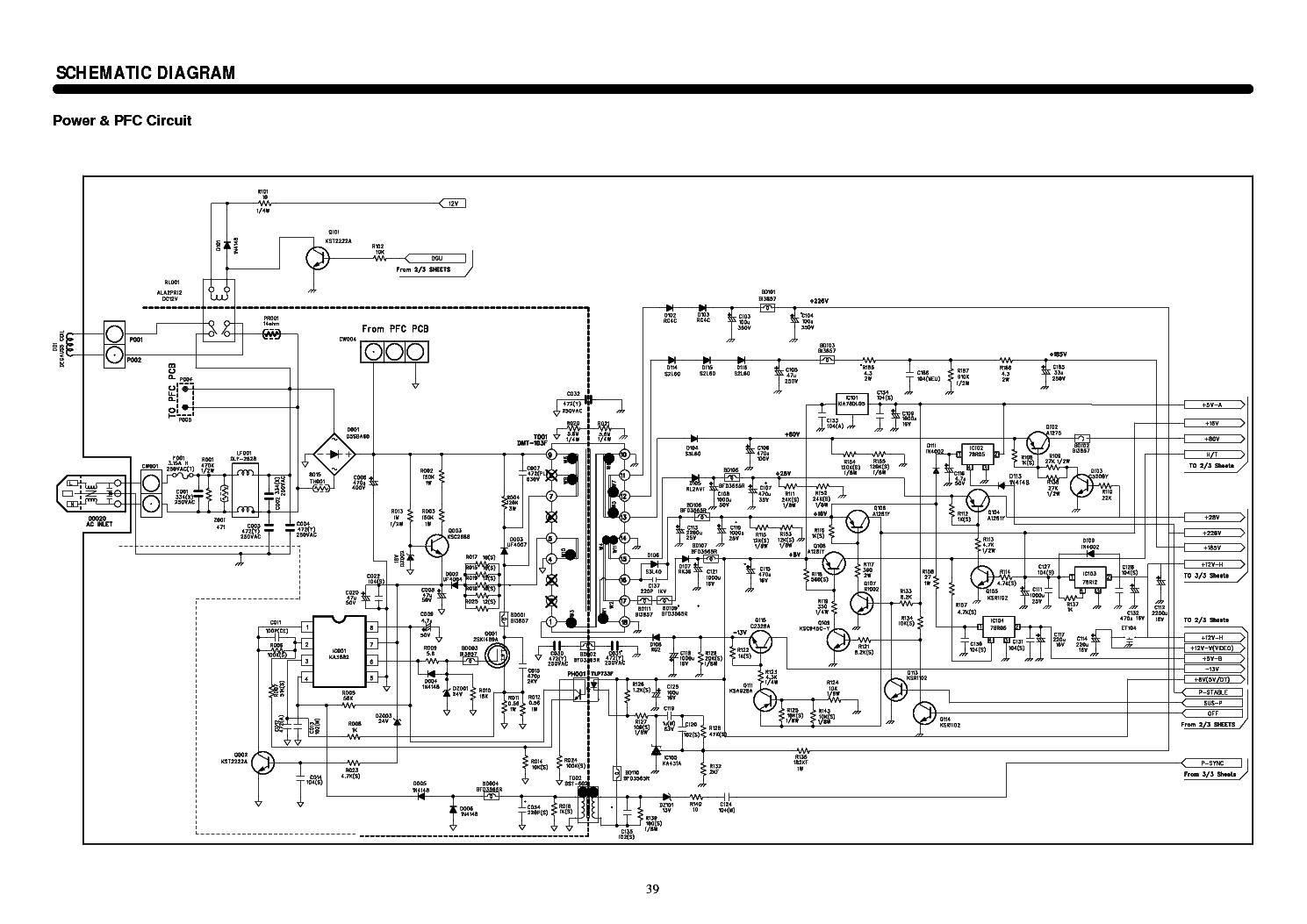 DAEWOO 103FH SCH Service Manual download, schematics