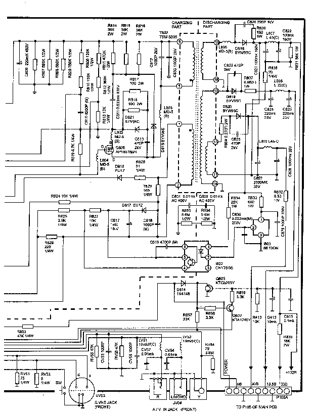 DAEWOO 2570 POWER SCH Service Manual download, schematics