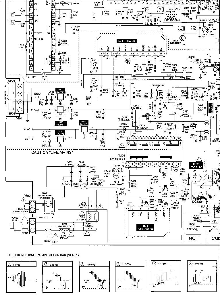 DAEWOO CHASSIS CP-810F WP-811F SCH Service Manual download
