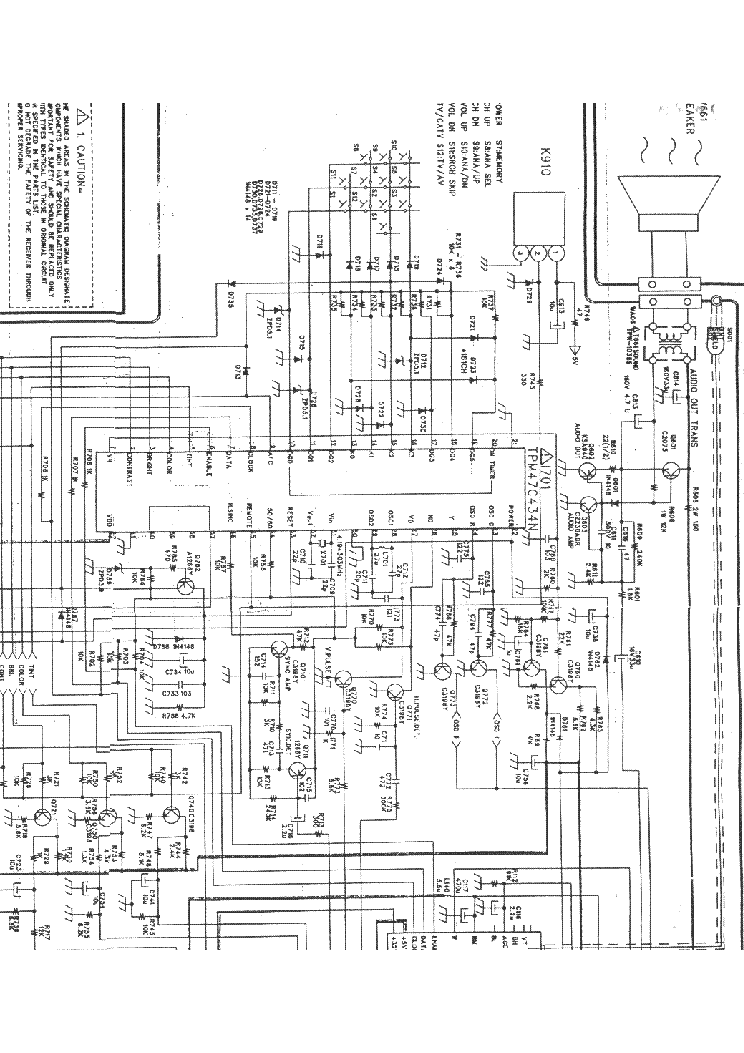 DAEWOO CN-52N Service Manual download, schematics, eeprom