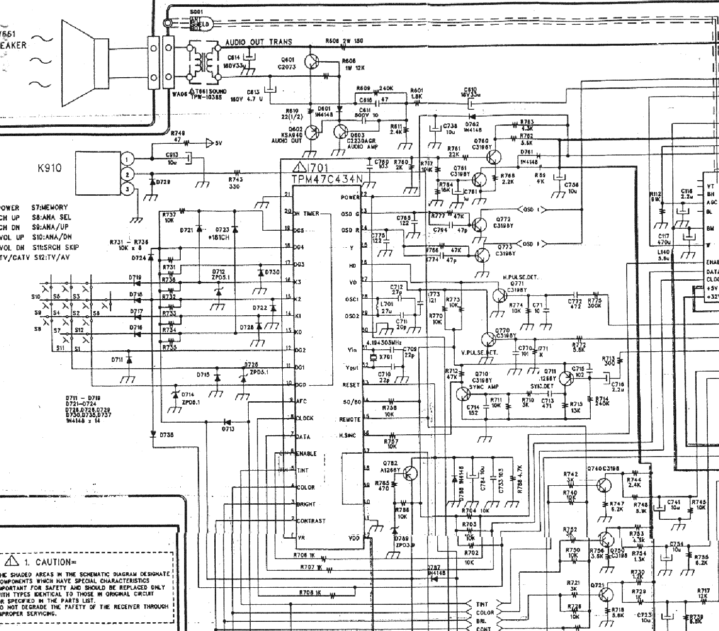 DAEWOO CN52N Service Manual download, schematics, eeprom