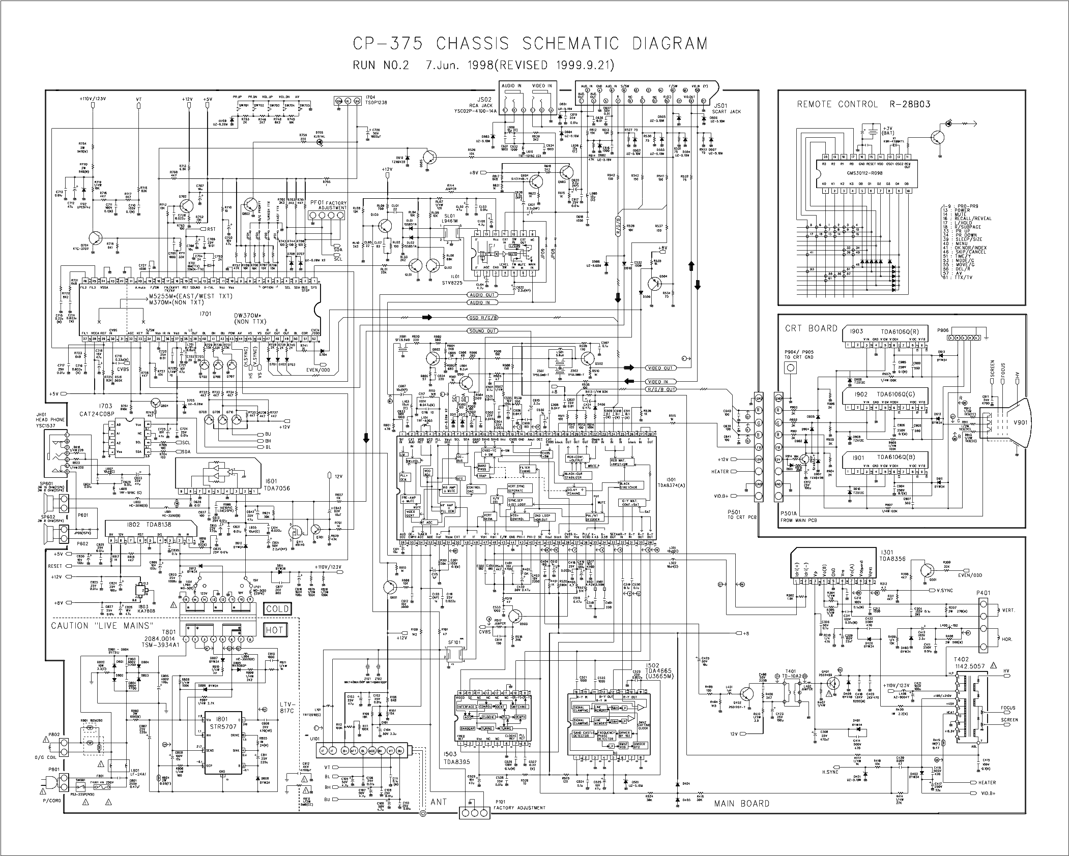 DAEWOO CP-375 Service Manual download, schematics, eeprom