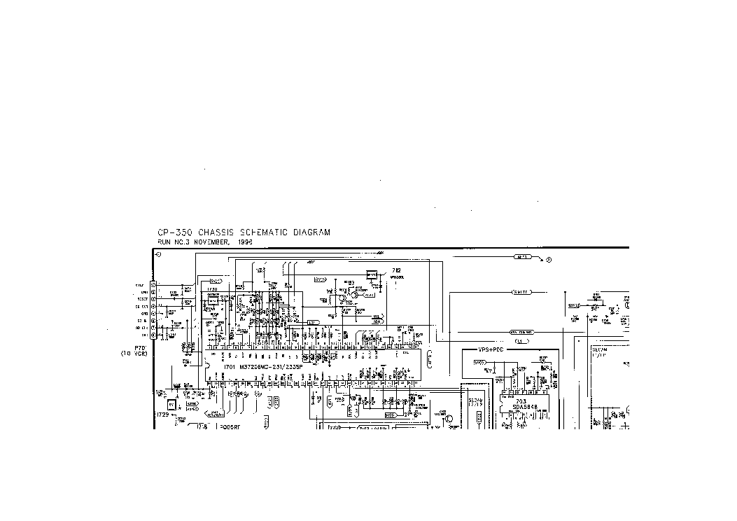 DAEWOO CP350 CHASSIS TV D Service Manual download, schematics, eeprom, repair info for