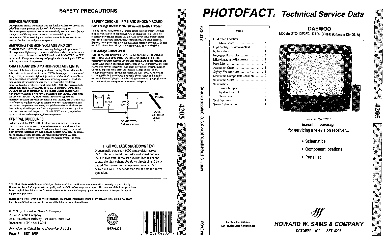 DAEWOO TV DMQ2072 DIAGRAM PDF