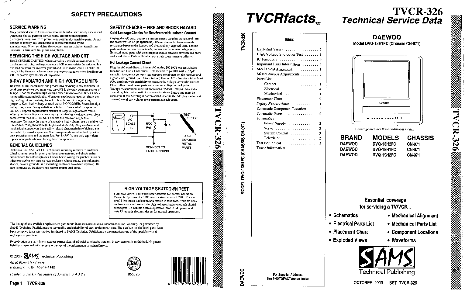 DAEWOO CTF2162 Service Manual download, schematics, eeprom