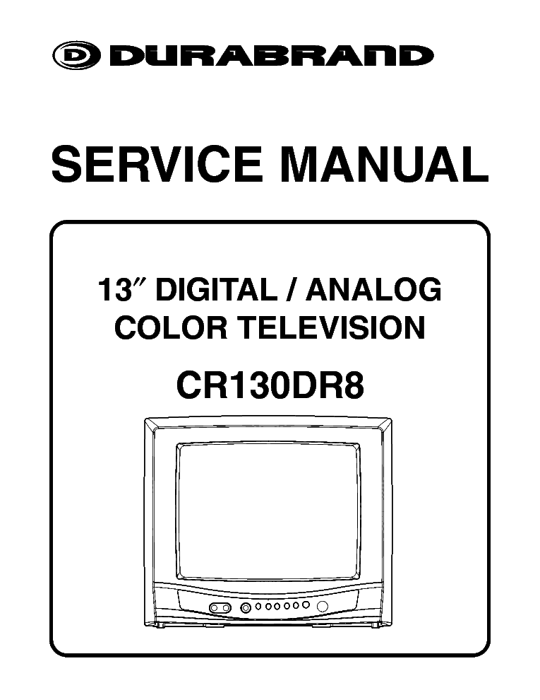 DURABRAND DBTV2500 TV SM Service Manual free download