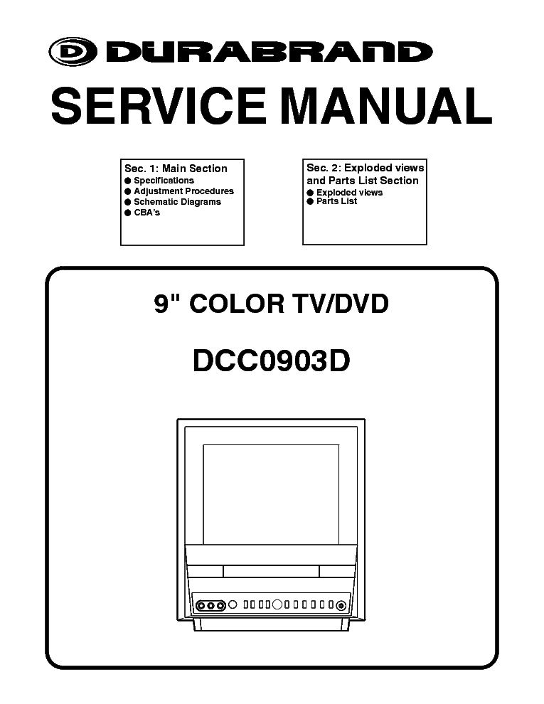 DURABRAND DCT1904R Service Manual download, schematics