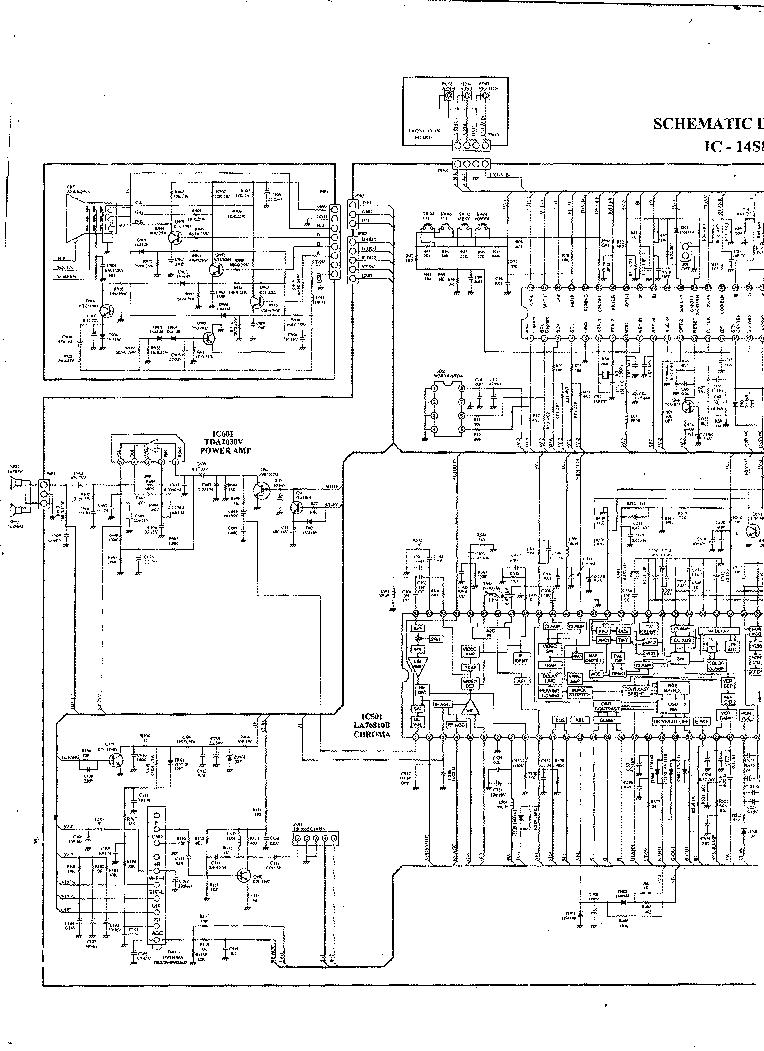 AKARI IC14S88 PTCS0302-01 LA76810B L6565 LA7840L SCH