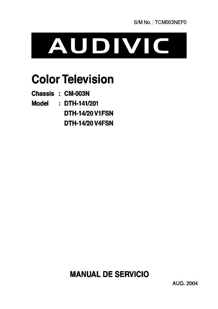 AUDIVIC DTH-141 201 DTH-14 20V1FSN DTH-14 20V4FSN DAEWOO