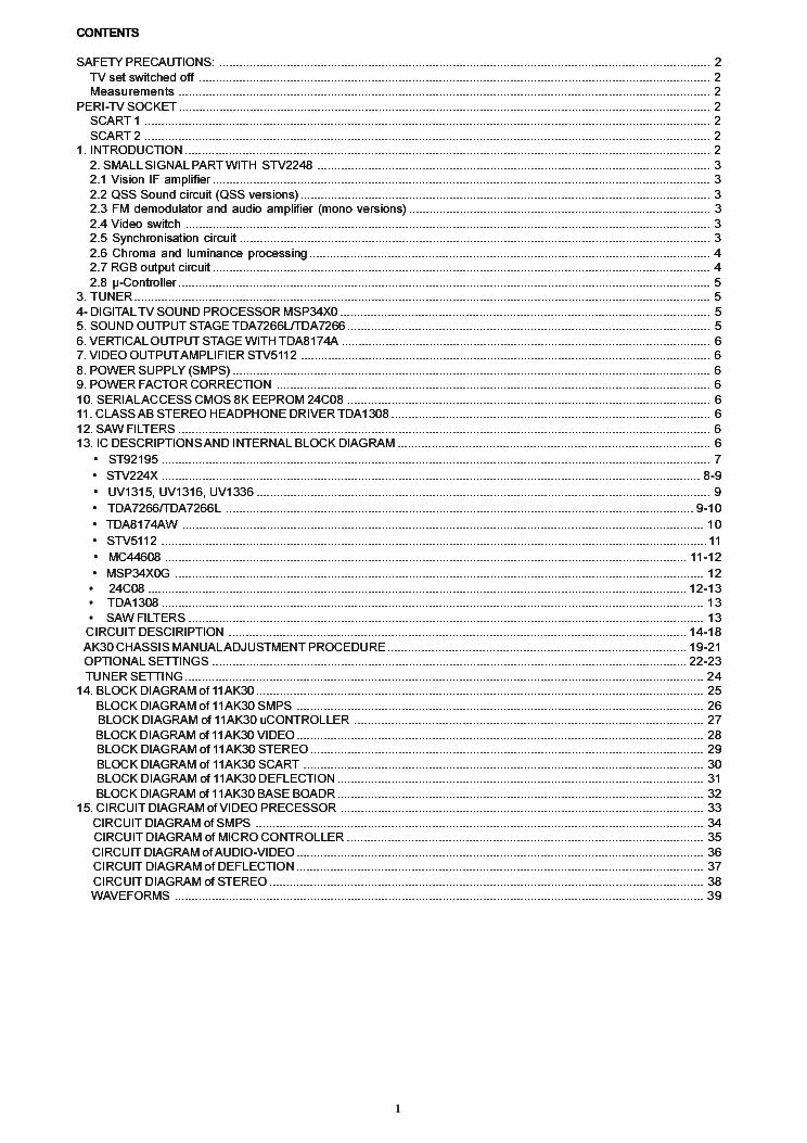 CHASSIS FORMENTI F19 SCH Service Manual download