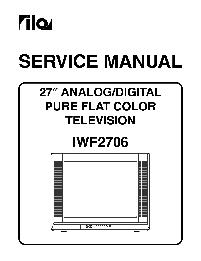 ILO LCT27HA36 LCD TV Service Manual download, schematics