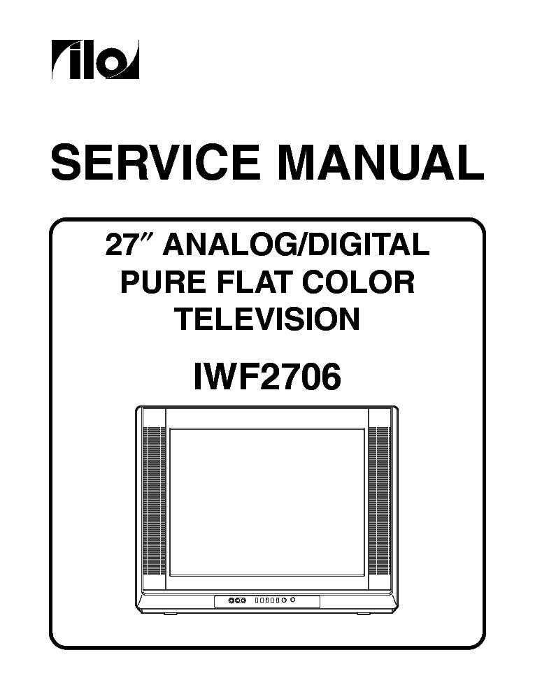 ILO LCT27HA36 LCD TV Service Manual download, schematics