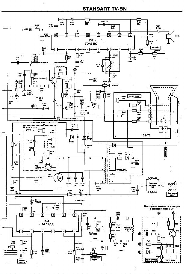 STANDART TV-BN SCH Service Manual download, schematics