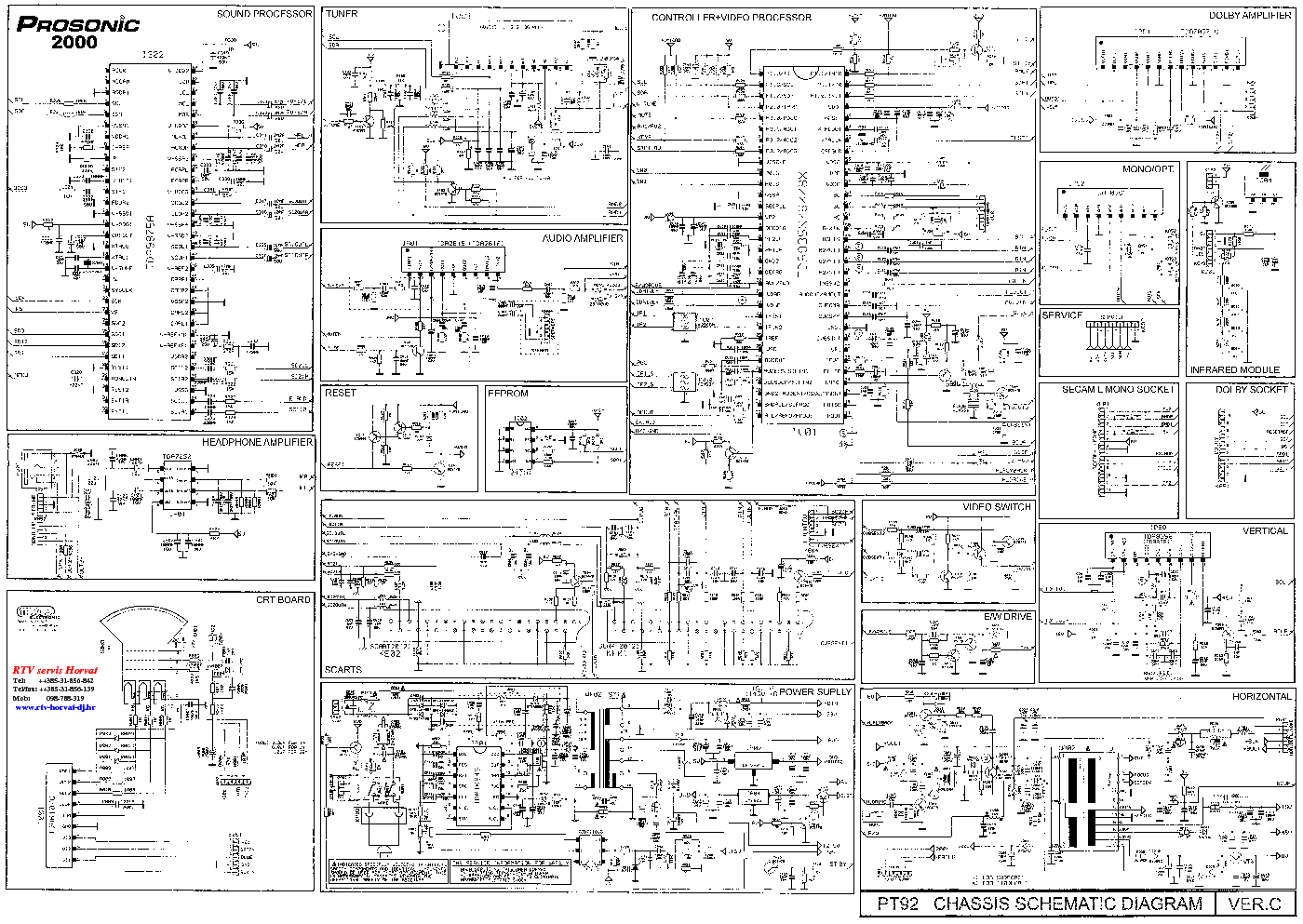 Tv Mitsai Schematic Service Manual Download