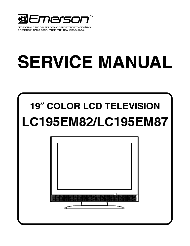 EMERSON LC195EM82 LC195EM87 Service Manual download