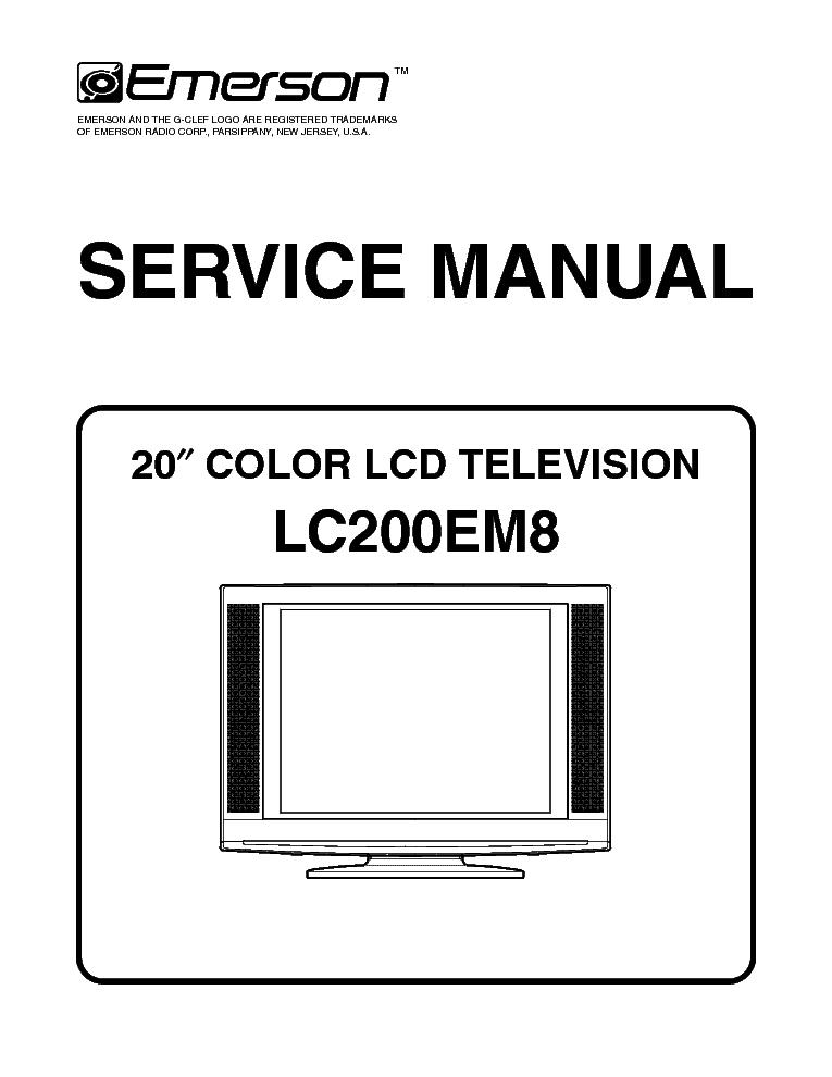 EMERSON LC200EM8 Service Manual download, schematics