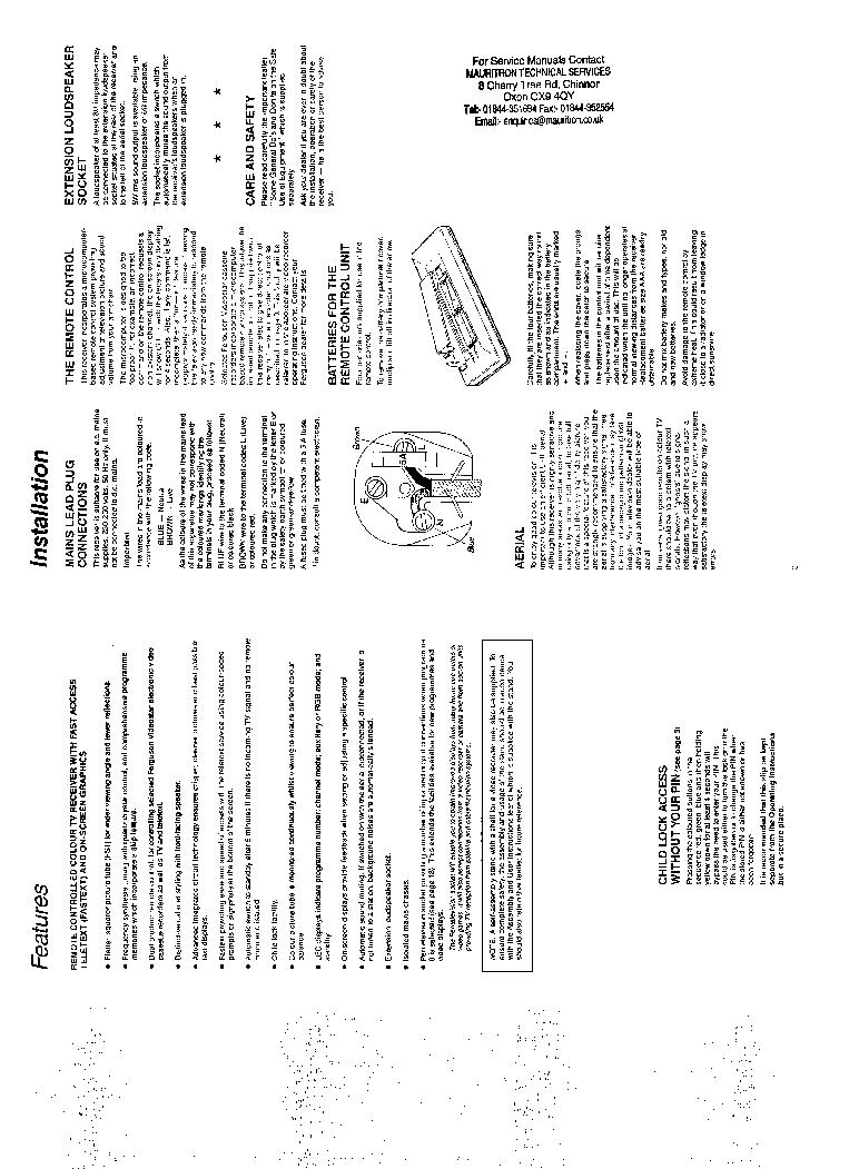 FERGUSON 59P7A Service Manual download, schematics, eeprom
