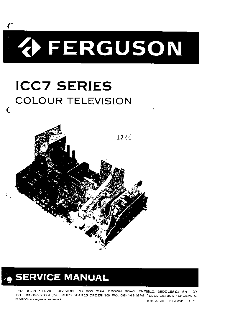 FERGUSON CH ICC7 SERIES Service Manual download