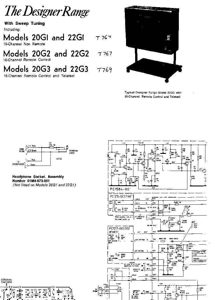 FERGUSON TX-100 Service Manual download, schematics