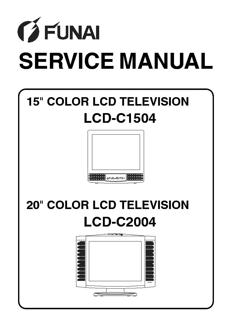 FUNAI LCD-C1504,LCD-C2004 Service Manual download