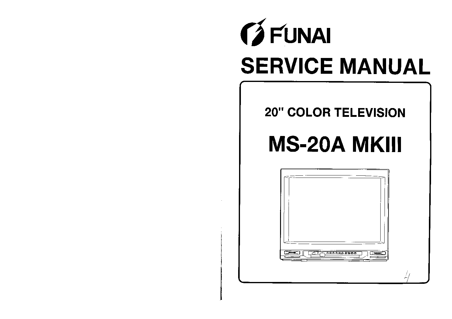 FUNAI TV-2000 MKII SM Service Manual download, schematics