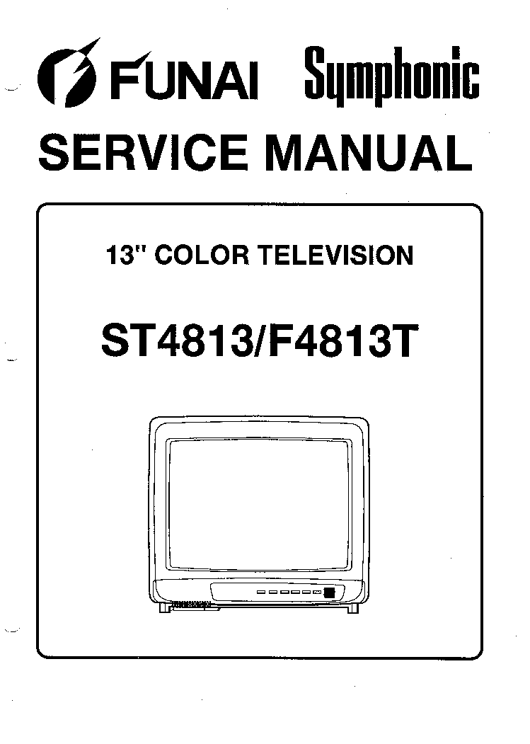 FUNAI SYMPHONIC ST4813 F4813T SM Service Manual download