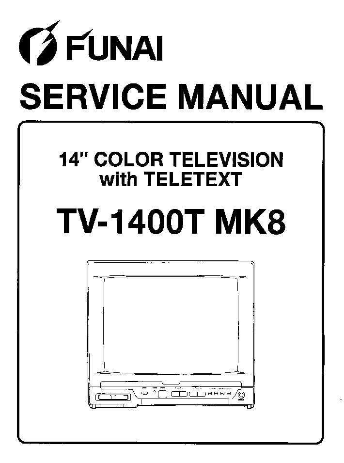 FUNAI TV-1400TMK8 SCH Service Manual download, schematics