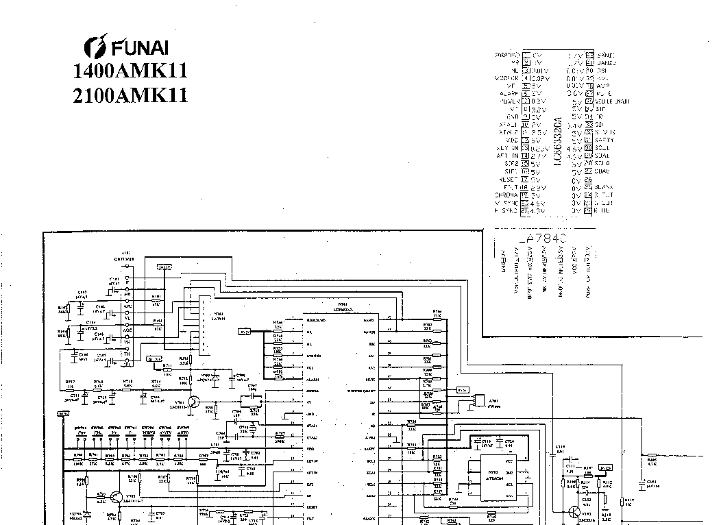 FUNAI TV-2000A-MK6 SM Service Manual free download