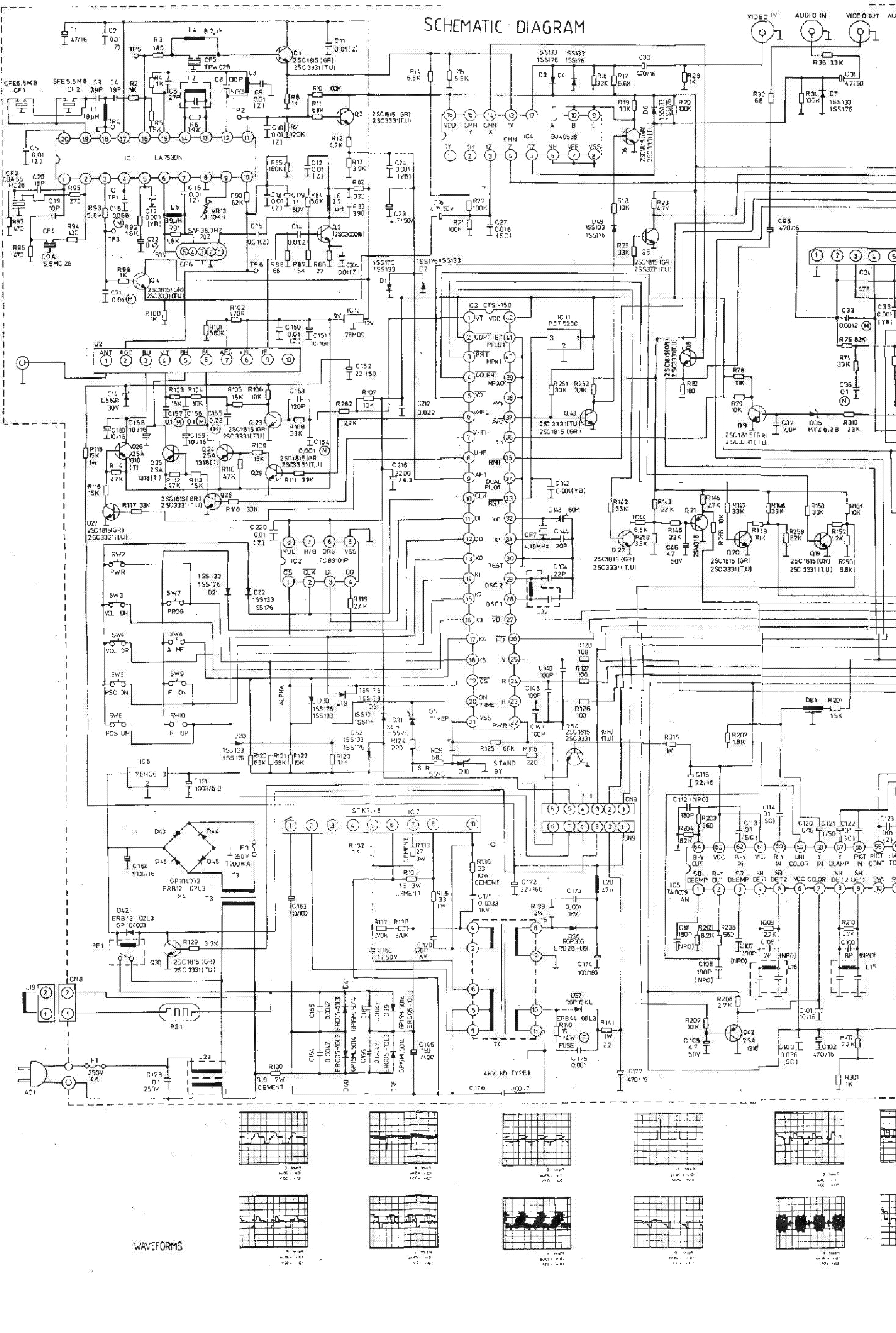 FUNAI TV2000A MK3 SCH Service Manual download, schematics