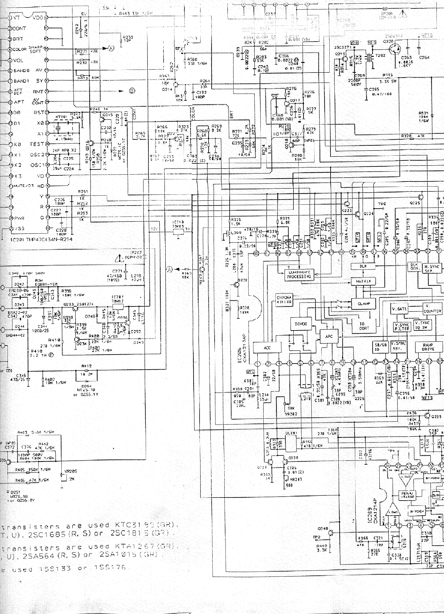 FUNAI TV2000MK7 TV D Service Manual download, schematics