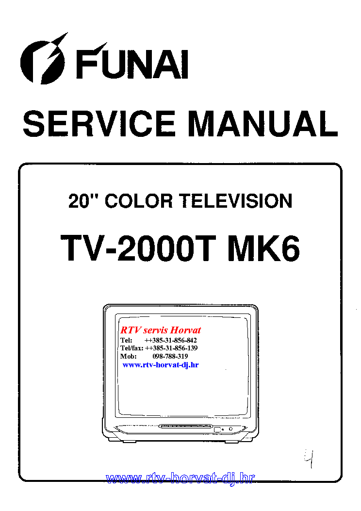 FUNAI 2000A-MK7 SCH Service Manual free download