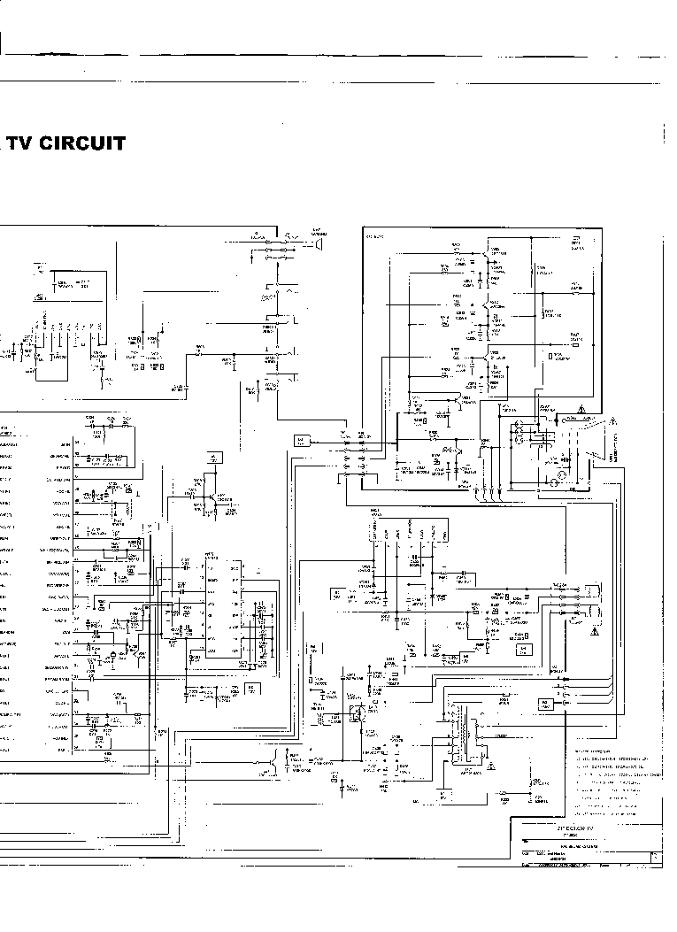 FUNAI TV2100A-MK11 SCH Service Manual download, schematics