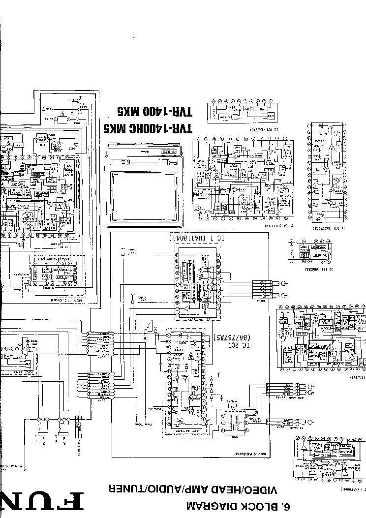 FUNAI TVR-1400 HC MK5 Service Manual download, schematics