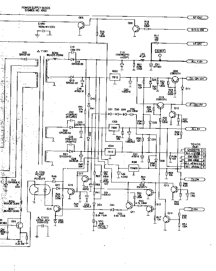 FUNAI TVR-1400A-MK7 Service Manual download, schematics