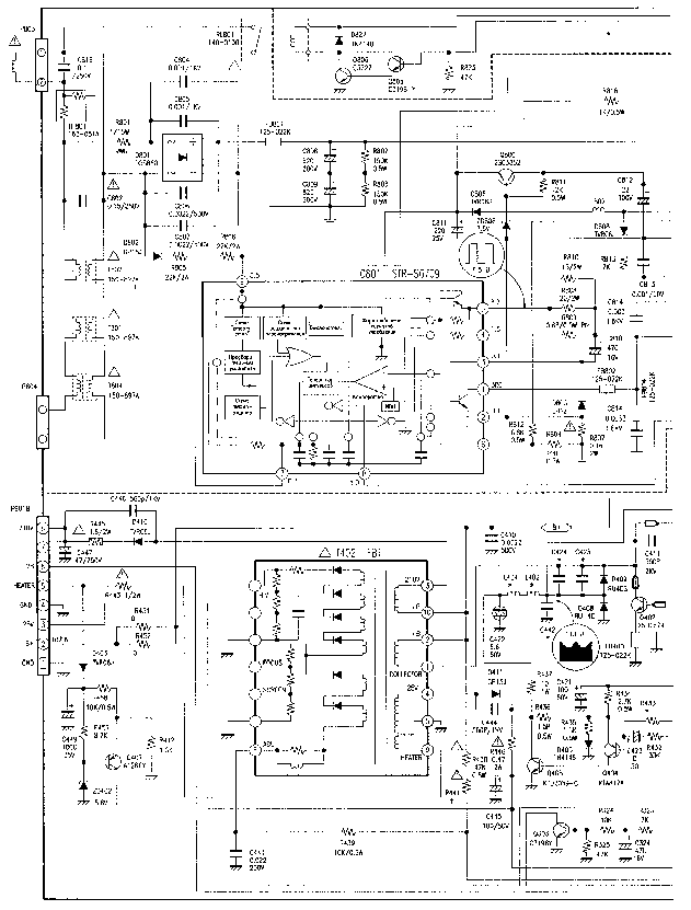GOLDSTAR MC41A MC41B CHASSIS CF-14B10 14E20 14D60 20B70