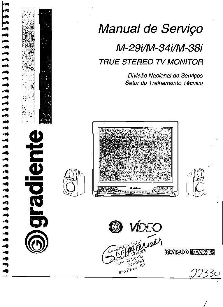 GRADIENTE M29I M34I M38I Service Manual download